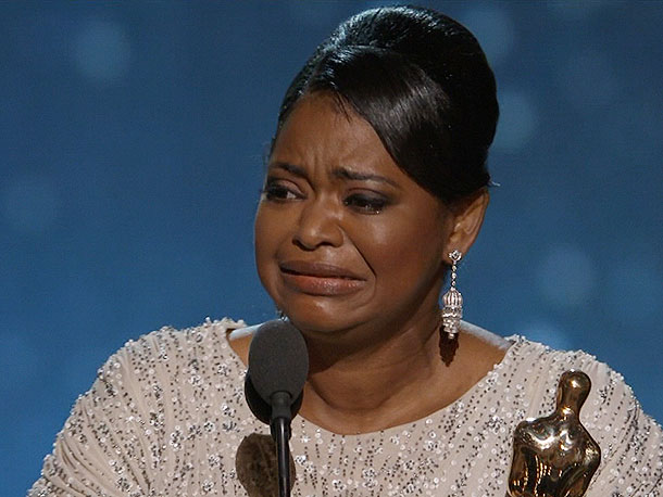 Octavia Spencer, Oscars 2012   No one was surprised when Octavia Spencer's name was announced as Best Supporting Actress after she dominated the pre-Oscar awards. But she couldn't help ''freaking…