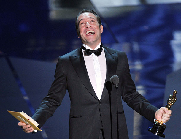 Jean Dujardin, Oscars 2012   Jean Dujardin beat out a field including George Clooney and Brad Pitt for Best Actor, and the debonair actor could barely contain his glee. ''I…