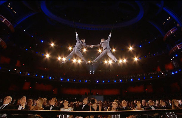 Cirque Du Soleil, Oscars 2012   The Cirque du Soleil performance enjoyed the benefit of low expectations from some television audiences. But once their acrobats started soaring over the Oscar audience,…