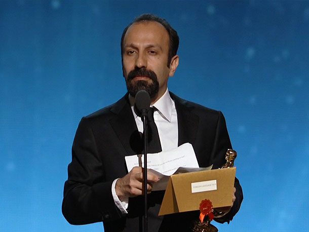 In his acceptance speech for Best Foreign Language Film, A Separation director Asghar Farhadi addressed the current tension between his country and the West over…