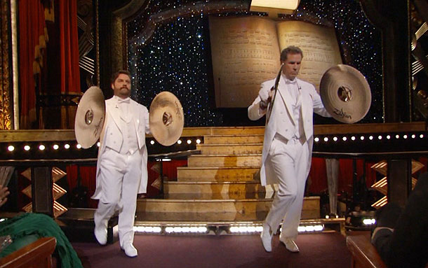 Will Ferrell, Zach Galifianakis, ...   ''Serious musicians'' Will Ferrell and Zach Galifianakis — forgive me, Zaj Gabasaphanapis — presented the award for Best Original Song, with the pair wielding dueling…