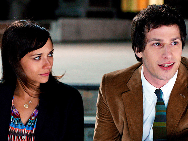 Two NBC comedy stars ( Parks and Recreation 's Rashida Jones and SNL 's Andy Samberg) play the title characters in a bittersweet Sundance comedy…