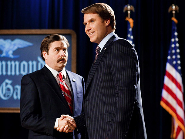 Good running mates are hard to find, but a Will Ferrell/Zach Galifianakis ballot had no trouble getting Warner Bros.' endorsement. ''We sold this movie entirely…