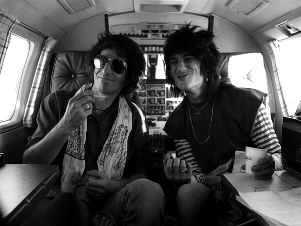 Ronnie Wood, Keith Richards, ... | Henry Diltz: ''This was the New Barbarians tour for Ron Wood's solo album (1979's Gimme Some Neck ). They wanted him to tour to support…