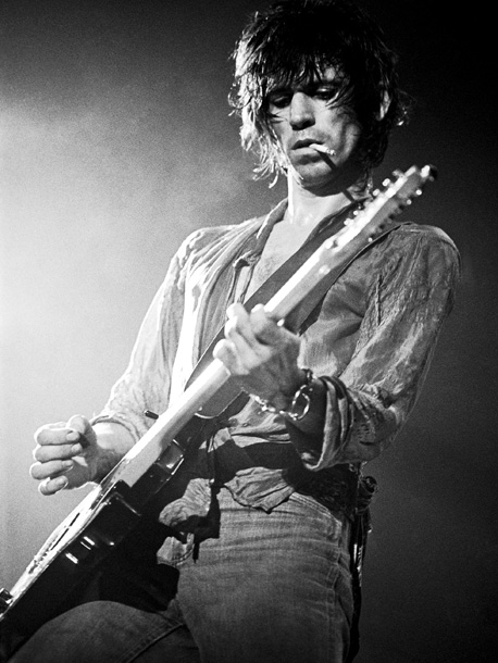 Keith Richards, The Rolling Stones | Lynn Goldsmith: ''Who else can smoke a cigarette and play a solo at the same time?''