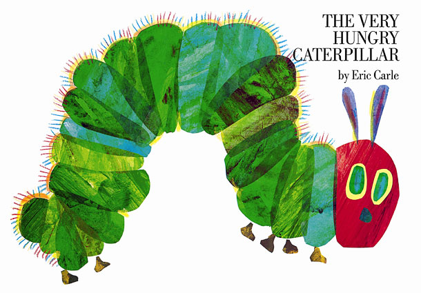 Carle's blocky, beautiful art follows a ravenous little caterpillar who munches his way through an enormous amount of food before encasing himself in a cocoon…