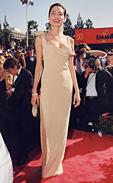 Angelina Jolie | When Angelina Jolie walks the red carpet, why does anyone else even bother to try? Even back in 1998—then-nominated for both HBO?s Gia and TNT?s…
