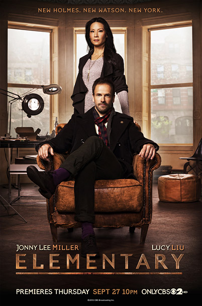 Handsome. The purple socks are a playful touch. The tagline is perfect, perhaps the best of the year: ''New Holmes. New Watson. New York.'' B+