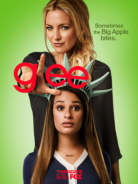 Another loser-hand ad for Fox's Glee . At least this time, the musical drama is showing what's new: Hey, it's Kate Hudson, looking all devilish.…