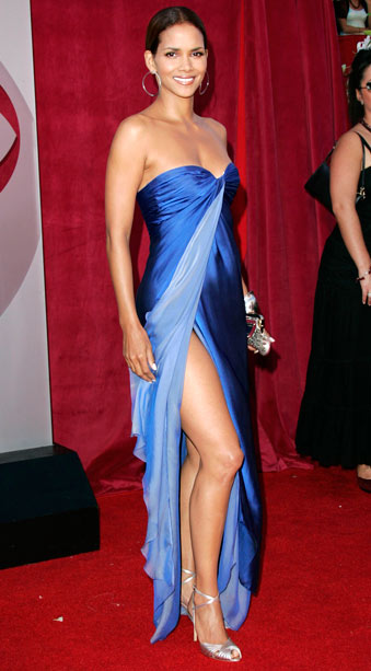 Halle Berry | Here's photographic proof that Berry rocked the right leg a full seven years before Angelina. ''I wanted to feel like a glass of water because…