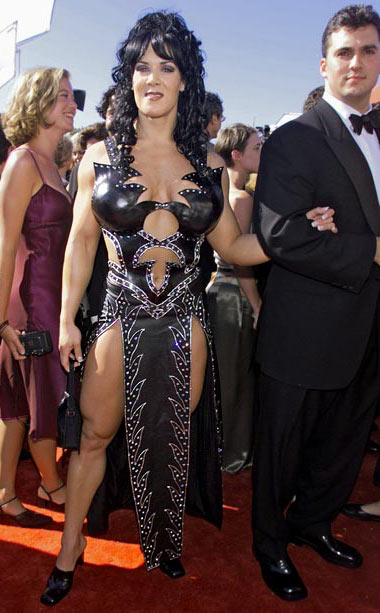 Joanie Laurer | Before there was Angelina Jolie's right leg at the 2012 Oscars, there was WWE Sunday Night Heat wrestler Chyna Doll's, um this, at the 1999…