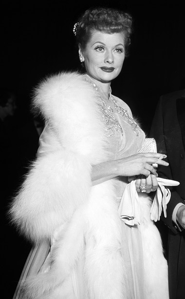 Lucille Ball | The comedienne was known for her impeccable timing, but she also had impeccable taste. The Emmy-nominated I Love Lucy star attended the 1957 ceremony in…