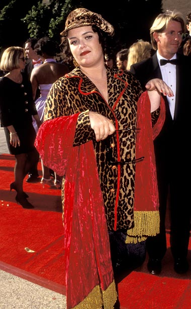 Rosie O'Donnell | In her leopard print PJs, O'Donnell looked like she'd rolled out of bed and onto the red carpet in 1992. Or rather, someone dragged her…