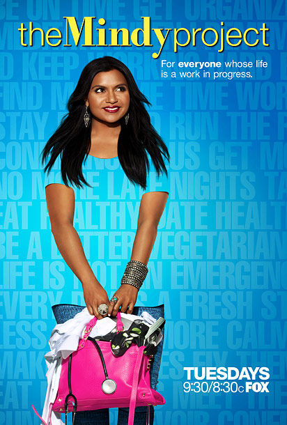 Happy and modern. Nice use of self-improvement mission statements. Mindy Kaling looks beautiful. Um...can I say this? When your show's star isn't a dress size…