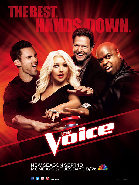 What's the big difference between these two singing competition posters? X Factor takes itself seriously. The Voice looks like its judges are having fun. Plus,…