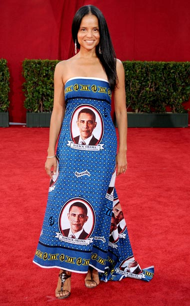 Victoria Rowell | Soap star Victoria Rowell?s dress is an Obam-ination. Just this week, Shepard Fairey?s avoided jail time for his unauthorized use of the president's image on…