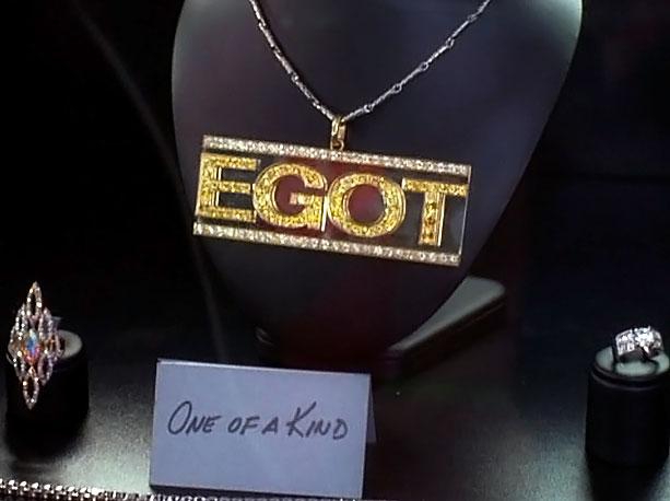 EGOT verb, noun A term invented by Miami Vice 's Philip Michael Thomas and co-opted by Tracy to describe the achievement of winning an Emmy,…