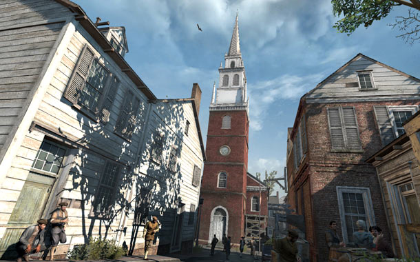 Assassin's Creed 3 | ACIII 's Revolutionary War-era Boston may not feature the towering architecture of its predecessor's Renaissance Rome, but Beantown's still a parkour-encouraging playground; scaling the Old…