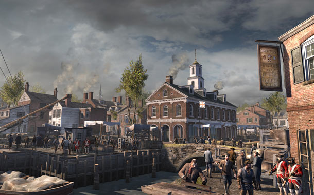 Assassin's Creed 3 | From the red brick buildings to the bustling crowds, ACIII 's take on the popular Boston tourist spot looks a lot like it does today,…