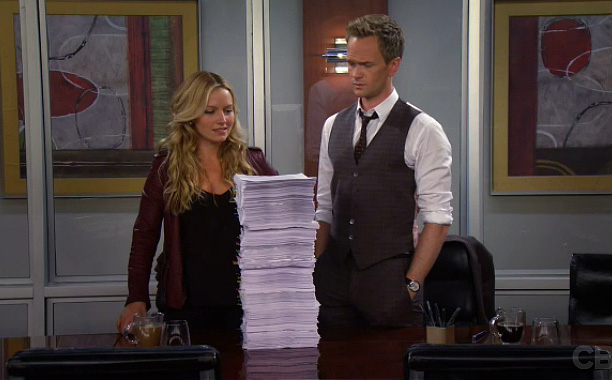 On How I Met Your Mother , Barney (Neil Patrick Harris) and Quinn (Becki Newton) fight about their ever-growing demands for a pre-nup. When they…