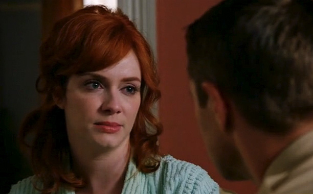 We've been waiting for Joan (Christina Hendricks) to kick Greg (Sam Page) to the curb since he raped her in season 2 of Mad Men…
