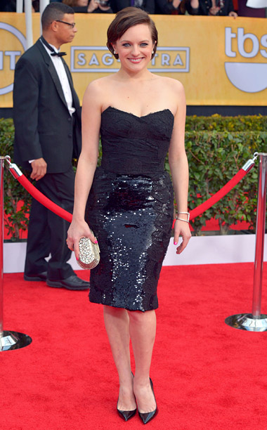 Style, Style: Red Carpet, ... | The Mad Men actress was one of the few to opt out of wearing a long hemline, but that didn't mean her look was short…