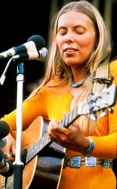 ''I got into Joni Mitchell via my mother. It's such beautiful, emotional music, and she's funny, and she's sad, and it's sexy. She's like the…