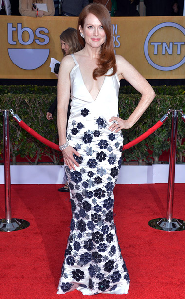 Style, Style: Red Carpet, ... | The plunging neckline of the best actress winner's gown was a wardrobe malfunction waiting to happen, but the floral embroidered skirt was stunning enough to…