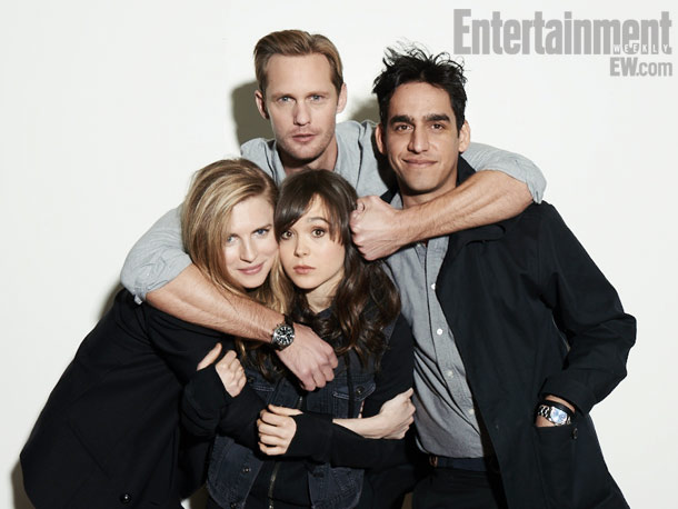 Brit Marling, Alexander Skarsgard, Ellen Page, and Zal Batmanglij (director), The East