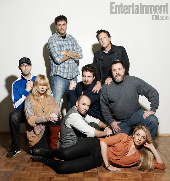 Brad Miska (producer), Roxanne Benjamin (producer), Eduardo Sanchez (director), Simon Barrett (director), Adam Wingard (director), Gary Binkow (producer), Gregg Hale (director), Samantha Gracie, S-VHS