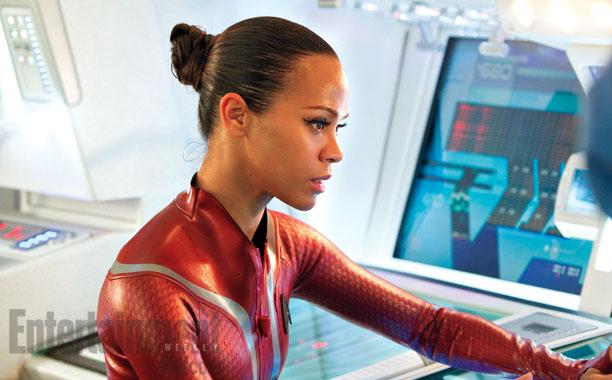 Zoe Saldana, Star Trek Into Darkness   Zoë Saldana returns as Lt. Uhura. One of Team Abrams' sharp departures from Trek history is the romance between Uhura and Spock. Both Quinto and…