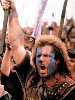 Mel Gibson, Braveheart | Aussie Mel Gibson 's Scottish intonation in this Oscar-winning picture was so ineffectual, native Scots voted it one of the worst of all time in…