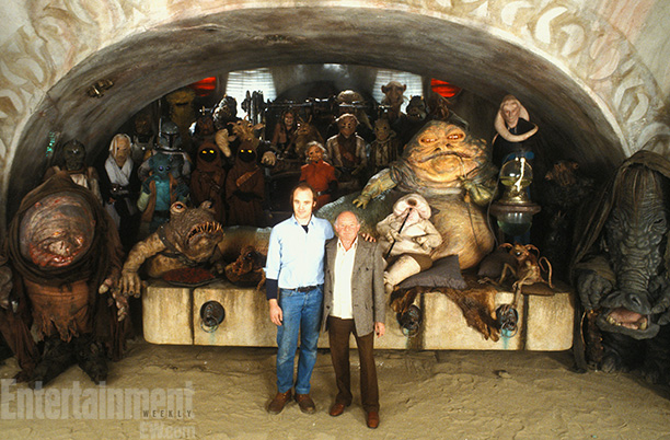 Star Wars: Episode VI - Return of the Jedi | Phil Tippett (then head of the Industrial Light & Magic creature shop) and Stewart Freeborn (the makeup wizard who worked with Stanley Kubrick on 2001:…
