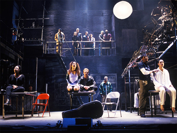 Music & Lyrics by Jonathan Larson Larson died suddenly and tragically just before the premiere of his rock-opera update on Puccini's La Bohème . But…