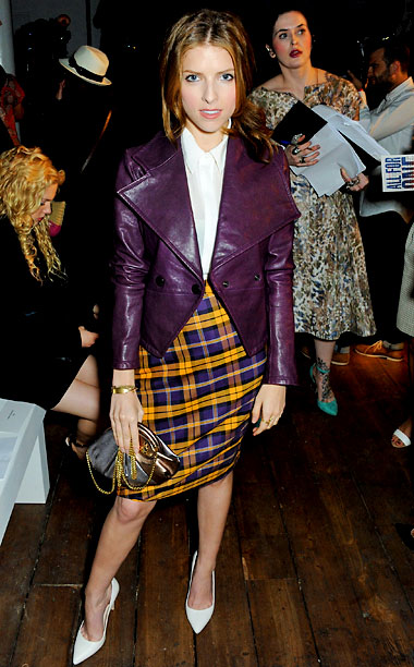 Anna Kendrick at the Vivienne Westwood Red Label show in London