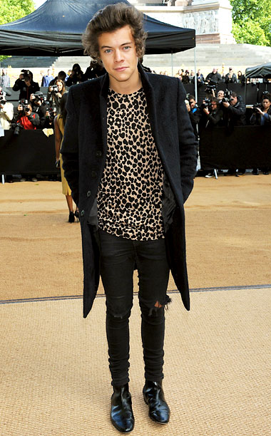 Harry Styles at the Burberry Prorsum show in London