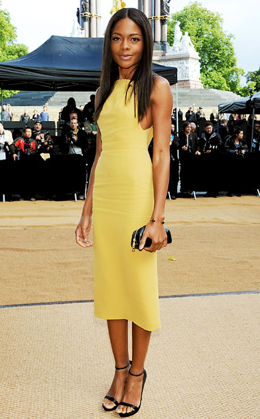 Naomie Harris at the Burberry Prorsum show in London