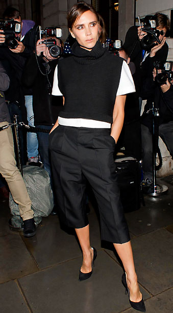Victoria Beckham at the Vogue party in London