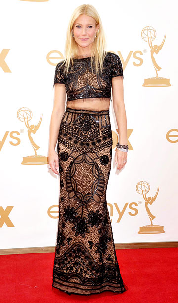 Style, Style: Red Carpet, ... | Did Paltrow really dare to bare in her midriff-baring Emilio Pucci gown? ''My dress is a little see-through, I'm realizing,'' the actress said of her…