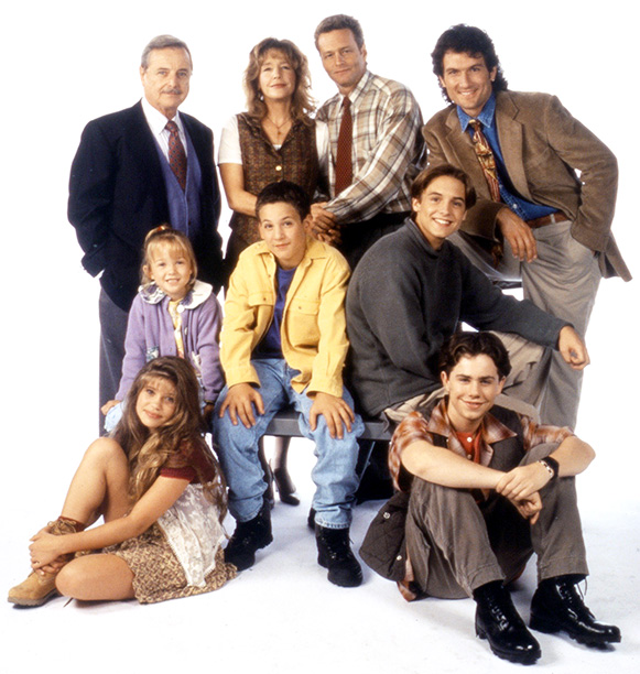 Boy Meets World (1993-2000) Top row: Williams Daniels, Betsy Randle, William Russ, and Anthony Tyler Quinn Middle row: Lily Nicksay, Ben Savage, and Will Friedle Bottom row: Danielle Fishel and Rider Strong
