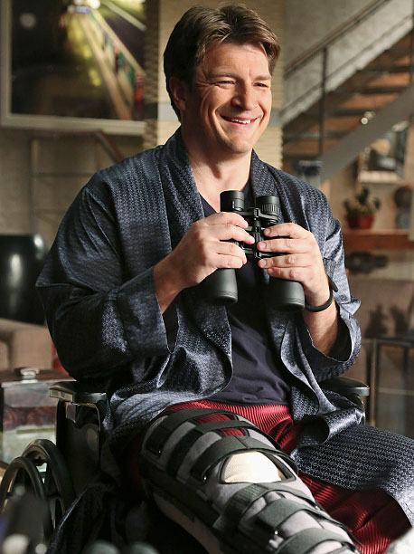 Castle | After a skiing accident lands him in a wheelchair, Castle (Nathan Fillion) thinks he witnesses a murder in the apartment across from him (sound familiar,…