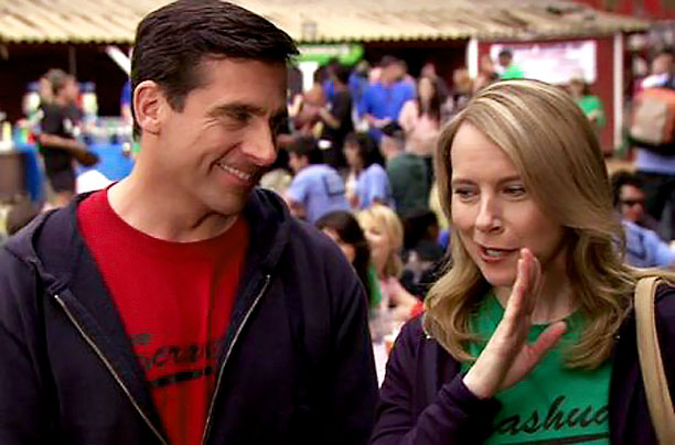 The Office | The 100th episode of The Office was also the fifth-season finale, and it brought the laughs — Michael (Steve Carell) and Holly's (Amy Ryan) ''SlumDunder…