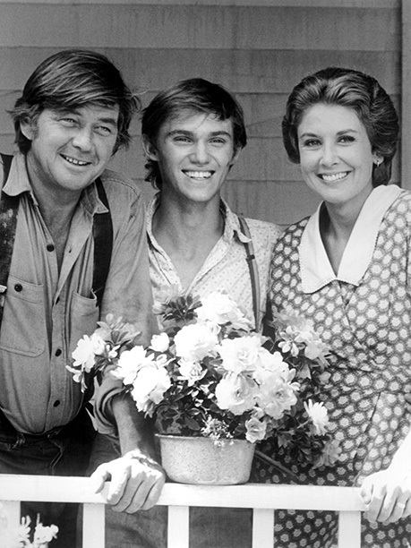 The Waltons (1972-81) Ralph Waite, Richard Thomas, and Michael Learned