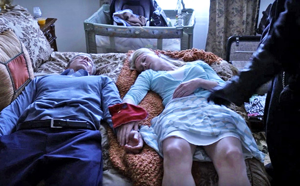 Sons of Anarchy | ''Baine'' (season 3, episode 11) RIP: Mark and Katey Petrie Death by: Bullets Reason: Father Ashby had told Jax that he'd heard his father's confessions…