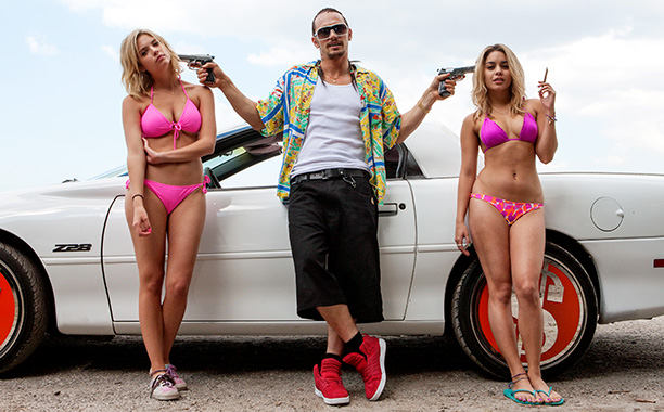 In Spring Breakers , James Franco makes you believe he is a marble-mouthed sleazoid-mystic who sprang fully formed from a pile of crumpled dollar bills…
