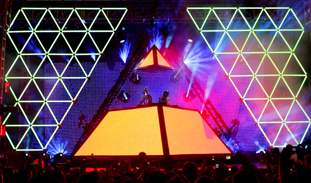 Coachella 2006 marked the debut of Daft Punk's massive pyramid set, which provided an incredible backdrop for their futuristic disco jams and became a signature…