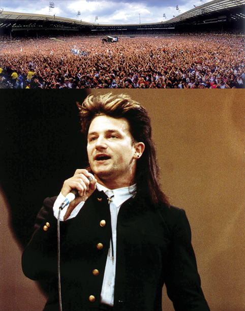 U2, Bono   Sir Bob Geldof's worldwide festival Live Aid not only raised millions for Ethiopian famine relief, it also provided a global stage upon which U2 elevated…