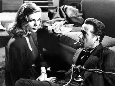 The Big Sleep, Humphrey Bogart, ... | HUMPHREY BOGART and LAUREN BACALL, The Big Sleep (1946) One of cinema's great romances, both off-screen and on, Bogie and Bacall starred in four films…