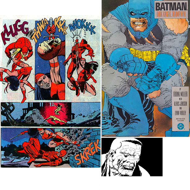 Frank Miller   Miller is often credited with/accused of turning mainstream American comics ''darker,'' a charge that mostly hails from The Dark Knight Returns ' bleak take on…
