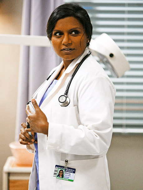 The main difference between Mindy Kaling's bubbly OB/GYN and the romantic comedy heroines she idolizes? Mindy's only starring in a rom-com in her own mind—leading…